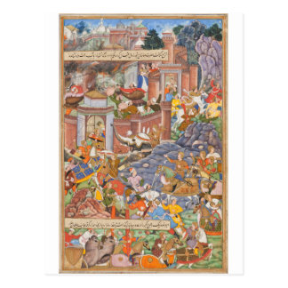 Flight of Sultan Bahadur During Humayun's Campaign Postcard