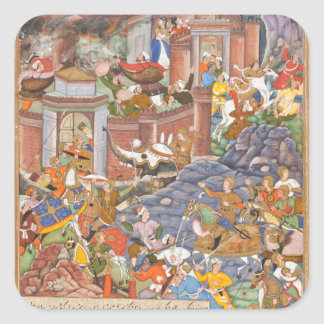 Flight of Sultan Bahadur During Humayun's Campaign Square Sticker