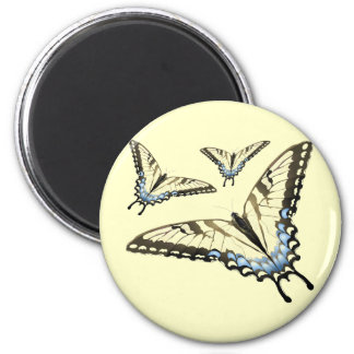 Flight of the Butterfly 2 Inch Round Magnet
