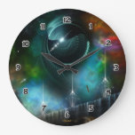 Flight Of The Corbius Fractal Art Wall Clock