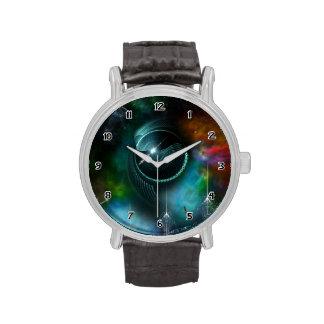 Flight Of The Corbius Fractal Art Wrist Watch