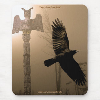 Flight of the Crow Spirit & Totem-Pole Mousemat Mouse Pad