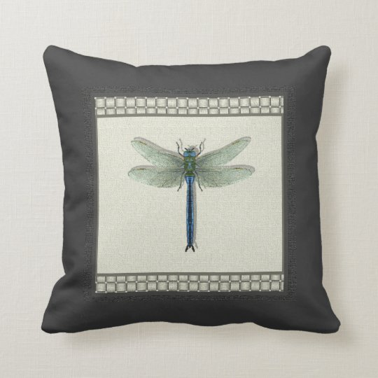 Flight of the Dragonfly Decorative Throw Pillow