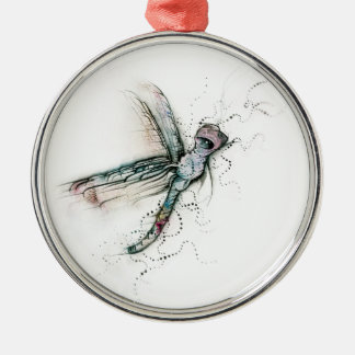 Flight Of The Dragonfly Metal Ornament