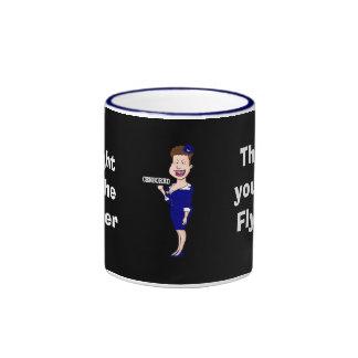 Flight of the Finger Ringer Coffee Mug