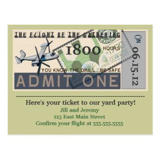 Flight of the Gathering Party Invitation Postcard