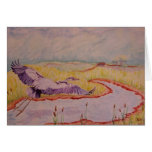 Flight of the Great Blue Heron Greeting Cards