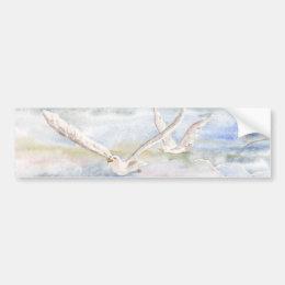 'Flight of the Gulls' Bumper Sticker