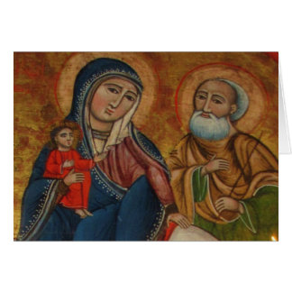 Flight of the Holy Family in Egypt Card