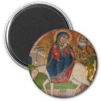 Flight of the Holy Family in Egypt Magnet
