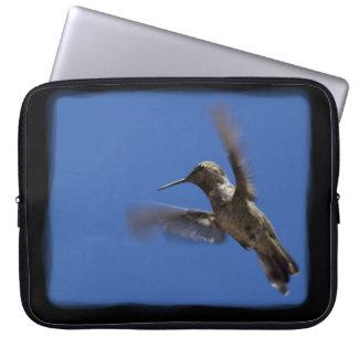 Flight of the Hummingbird Black Edge Laptop Sleeves