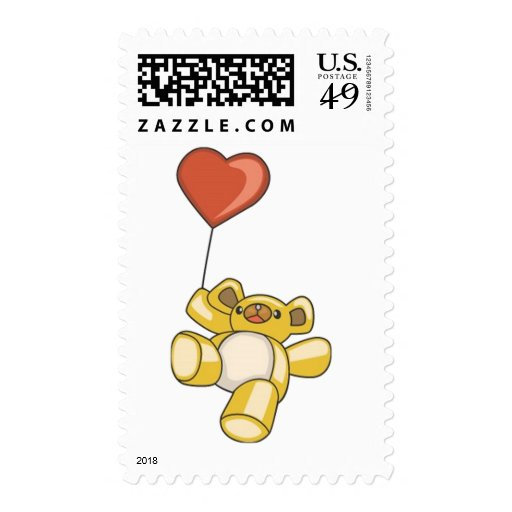Flight of the Teddy Bear Postage Stamps
