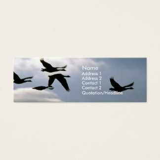 Flight of the Wild Geese | No. 2 Mini Business Card
