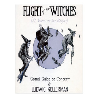 Flight of the Witches Postcard