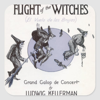 Flight of the Witches Square Sticker