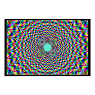 Flight of Vibrating Colors Poster