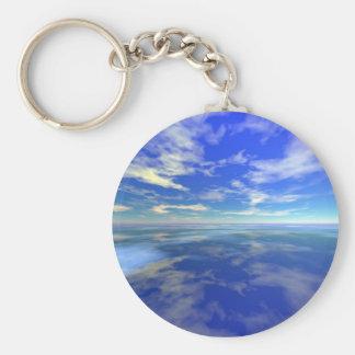 Flight over Water Basic Round Button Keychain