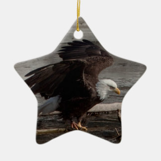 Flight Preparations Double-Sided Star Ceramic Christmas Ornament