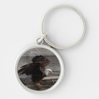 Flight Preparations Silver-Colored Round Keychain