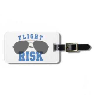 Flight Risk Aviation Glasses Bag Tag