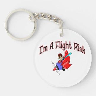 Flight Risk Double-Sided Round Acrylic Keychain