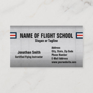 Aviation business cards templates zazzle flight school or aviation field business card colourmoves