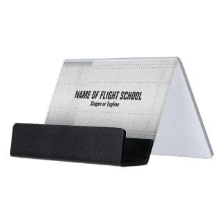 Flight School Or FBO Desk Business Card Holder