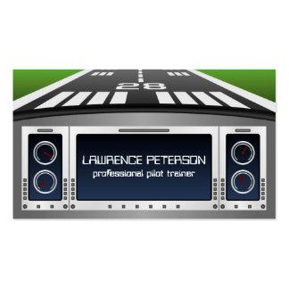 Flight Simulator Pilot Trainer Business Cards
