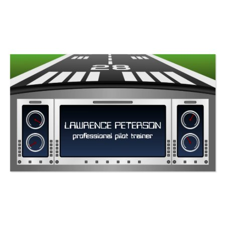 Flight Simulator Pilot Training Console Business Cards