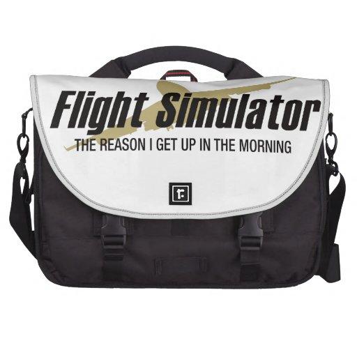 Flight Simulator Reason I get Up Commuter Bag