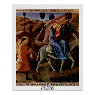 Flight To Egypt By Angelico Fra Poster