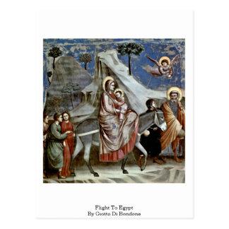 Flight To Egypt By Giotto Di Bondone Postcard