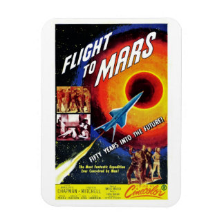 """Flight to Mars"" Magnet"