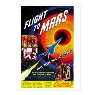 """Flight to Mars"" Postcard"