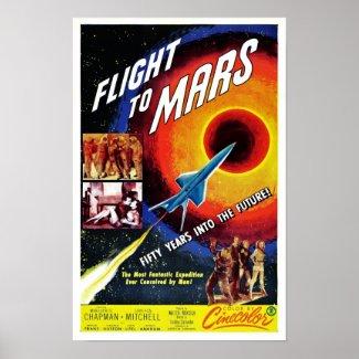 """""""Flight to Mars"""" Poster"""