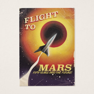 Flight To Mars! vintage sci-fi poster Business Card
