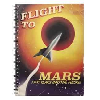 Flight To Mars! vintage sci-fi poster Notebook
