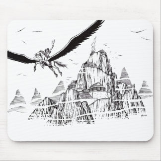 Flight to Olympus Mouse Pad