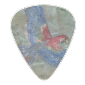 Flight to the Canopy  .80mm Guitar Picks, Pearl Pearl Celluloid Guitar Pick