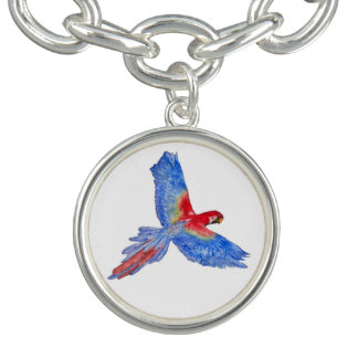 Flight to the Canopy Charm Bracelet, Silver Plated
