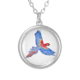 Flight to the Canopy Silver Plated Round Necklace