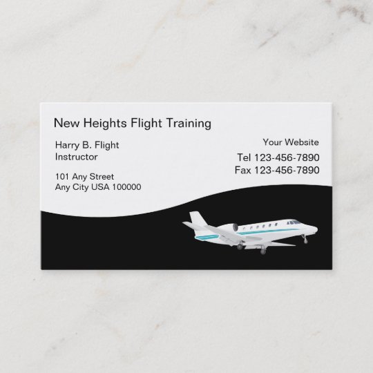Flight Training Business Cards