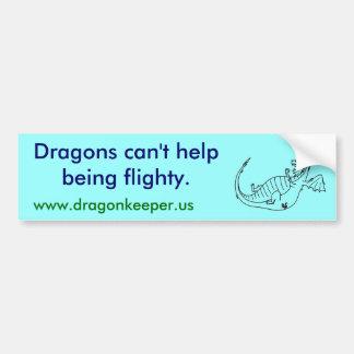Flighty Dragons Bumper Sticker Car Bumper Sticker