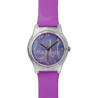 Flighty Pink Purple Blue Sky Cloud Pastel Watch