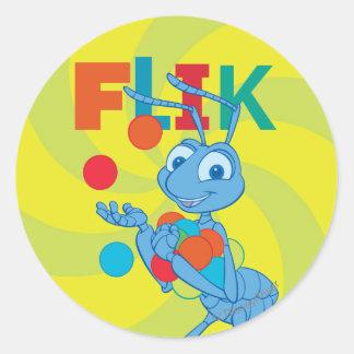 Flik - colorido pegatina redonda
