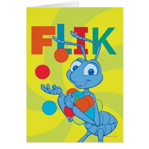 Flik - colorido tarjetón