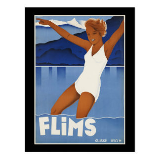 Flims Switzerland Postcard