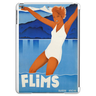Flims Switzerland Vintage Travel Poster Restored Cover For iPad Air