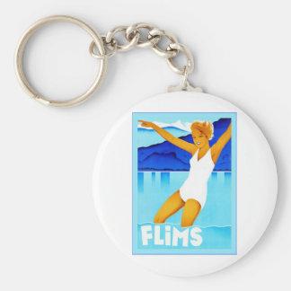 Flims ~ Vintage Swiss Travel Keychain