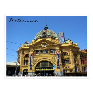 flinders st station grand postcard